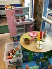 Our role play area which has a different theme each day.